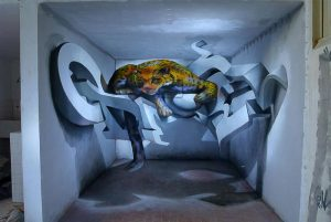3D wall graffiti